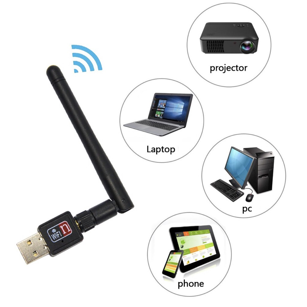 ✅QF 150Mbps USB 2 0 Wireless WiFi Receiver with Antenna