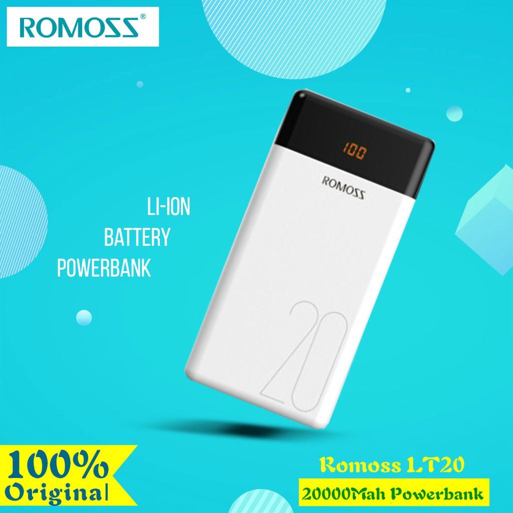 100% Original Romoss Powerbank LT20 20000mAh Power Bank