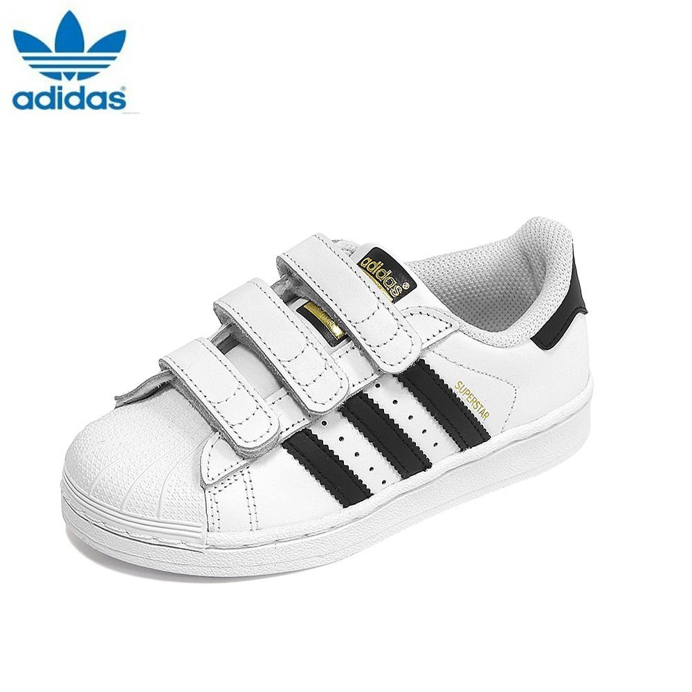 maquillaje emocional Consciente de  Adidas Kids Originals Superstar Foundation Shoes Velcro B26070 White/Black  | Shopee Philippines