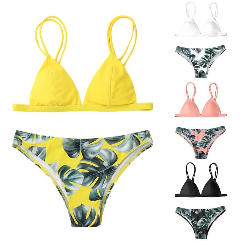 92bf030905e Blue Palms Triangle Bikini Set
