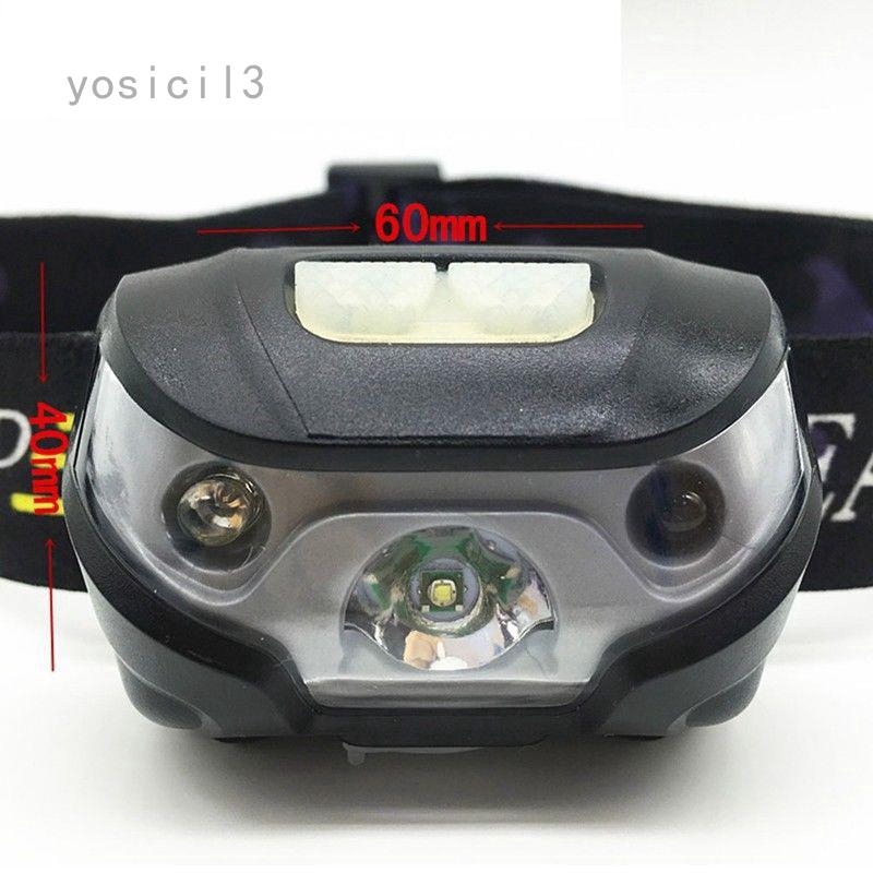 LED USB-Rechargeable-Headlamp-Fish Super-Bright Waterproof Head-Torch-Headlight
