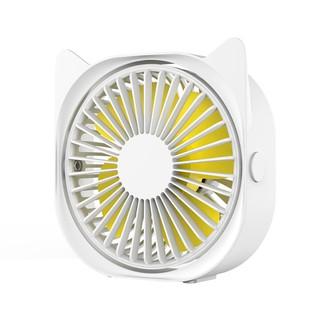 800Mah Battery USB Cable Portable Mini Fanmini Electric Fan Outdoor Student Desktop USB with Base Led Light@Green/_Fan