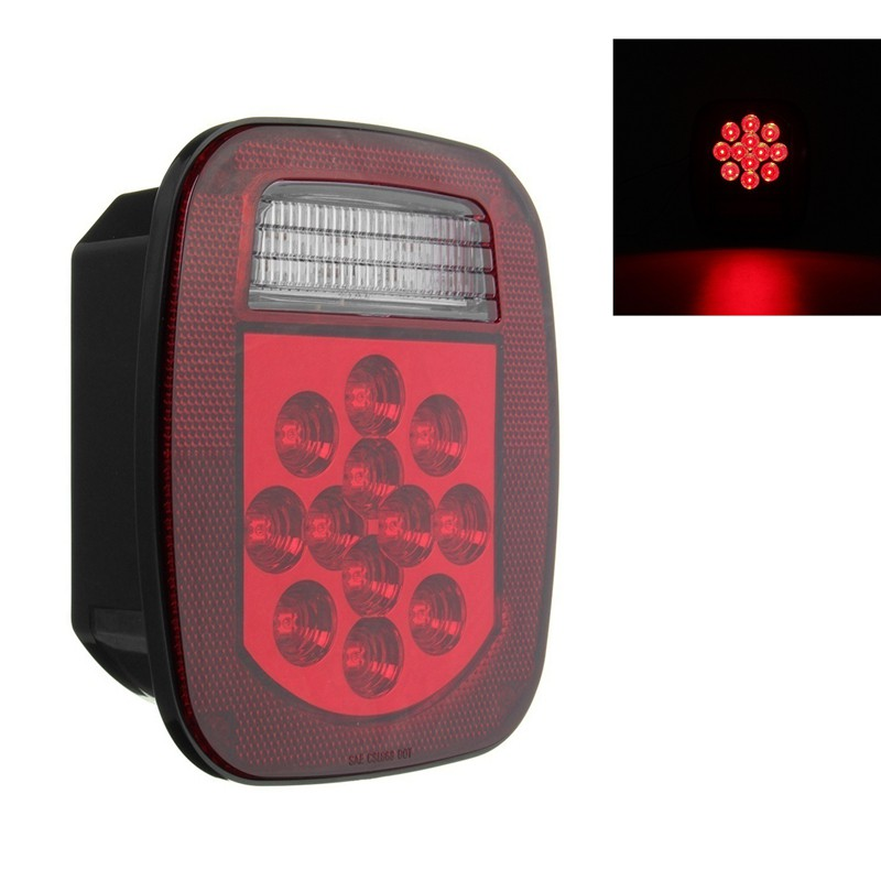 Red Auxiliary LED Rear Fog Lamp Light Unit E Approved Trailer Board Universal