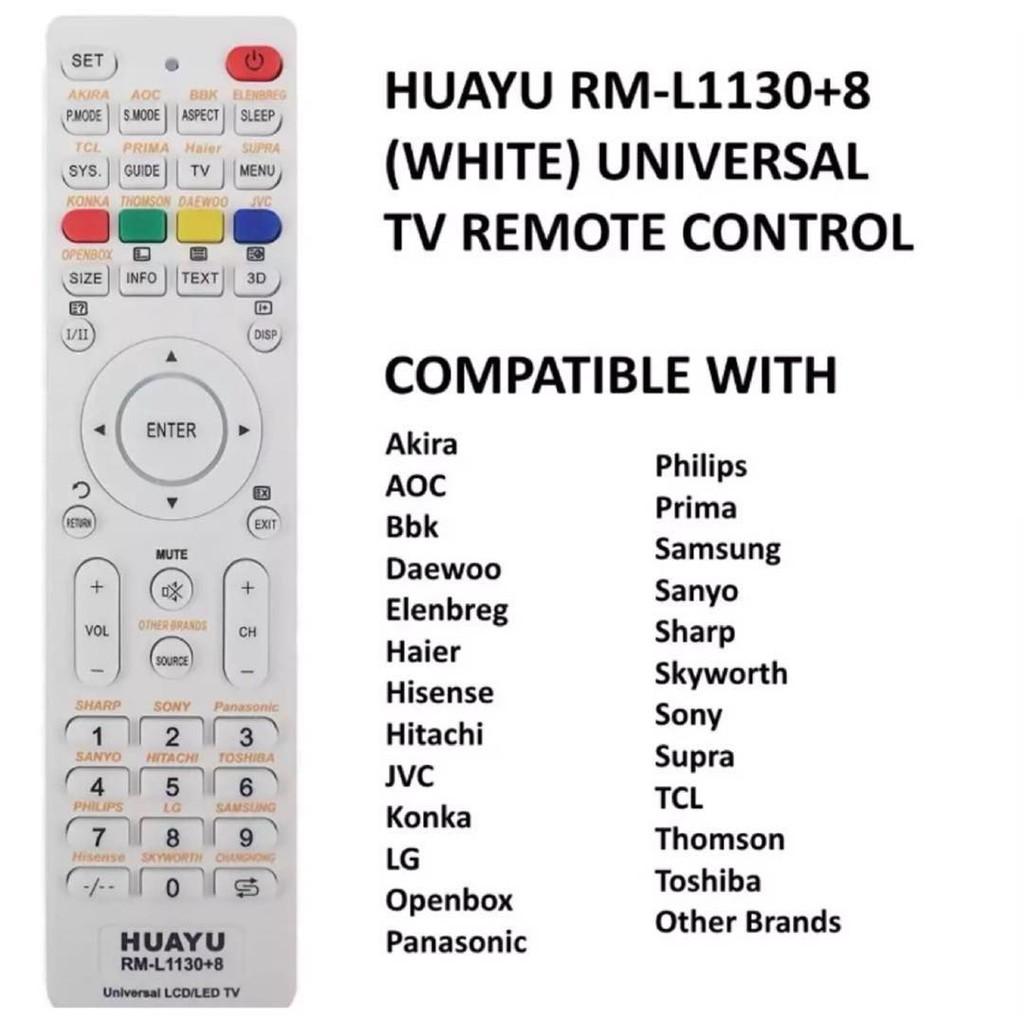 Huayu RM-L1130+8 Universal TV Remote Control