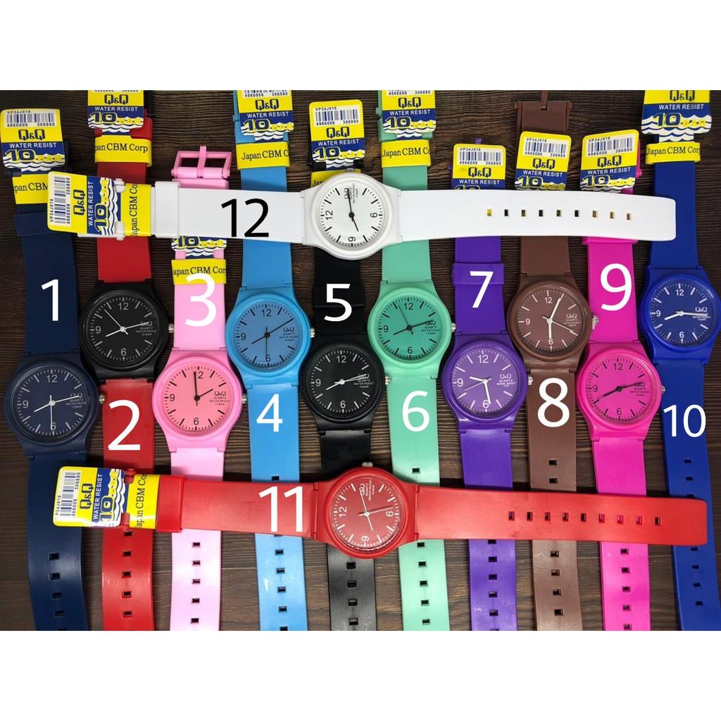 Q Q Vp46 Qq Qnq Women S Fashion Rubber Color Watch Shopee Philippines