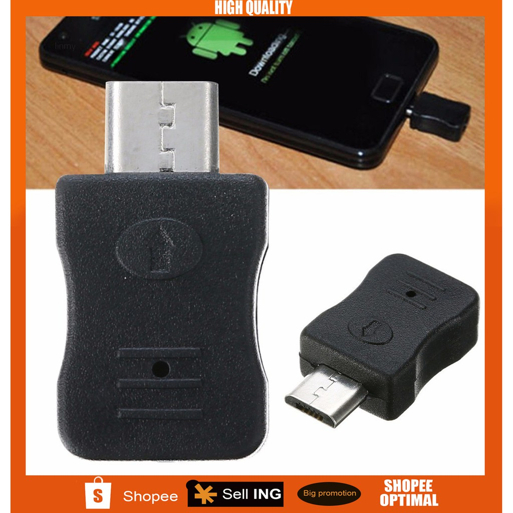 ✨linmy✨Black Micro USB Jig Download Mode Dongle f/ Samsung Galaxy  S/S2/S3/S4 Note 1/2/3