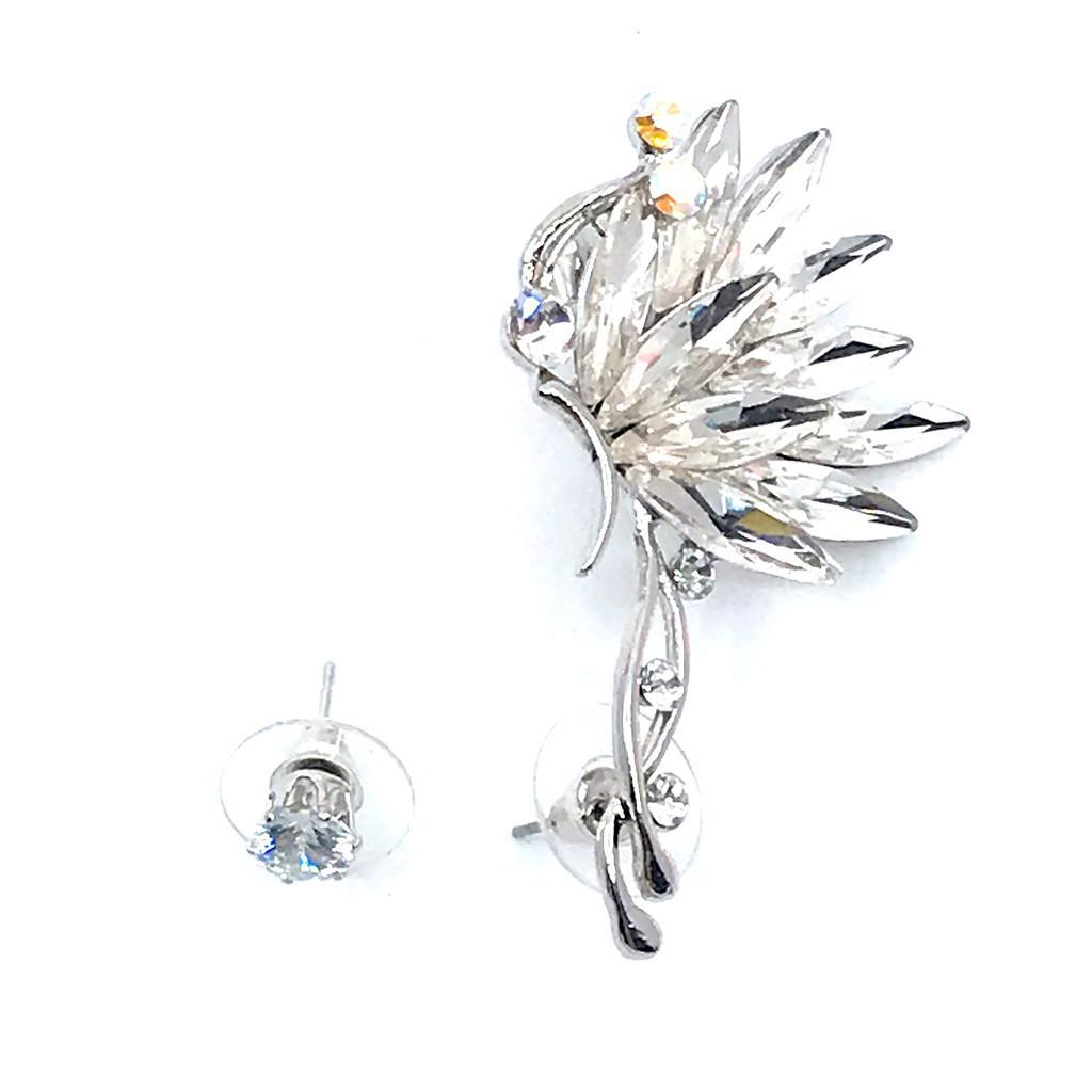 Fashion Women Fairy Wings  Ear Cuff Clip Gold Silver Color Punk Jewelry Gift LA