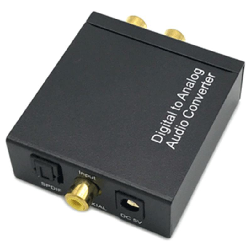Digital to Analog Converter DAC with Fiber Cable Digital Toslink to Analog  Stere