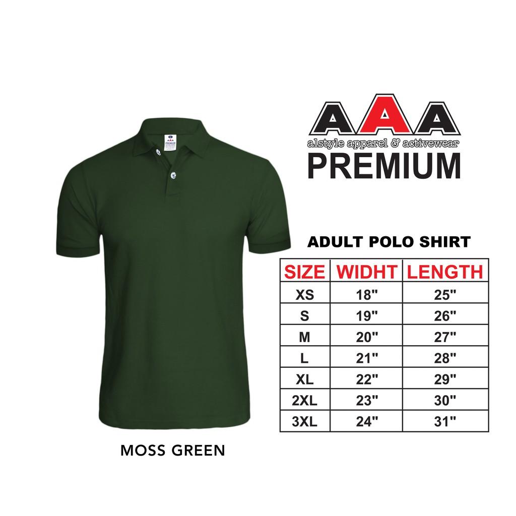 AAA PREMIUM Poloshirt Honeycomb Unisex Adult (Moss Green)