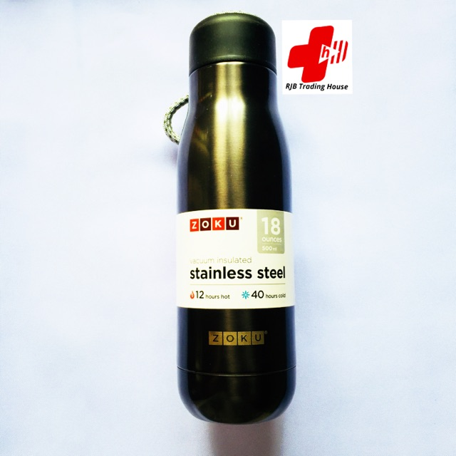 0e42c9bac0d Zoku 18oz Vacuum Insulated Stainless Steel Water Bottle | Shopee Philippines