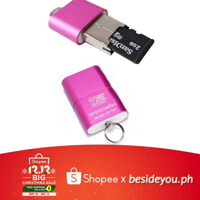 Hot Mini High Speed USB 2.0 Micro SD TF T-Flash Memory Card Reader Adapter
