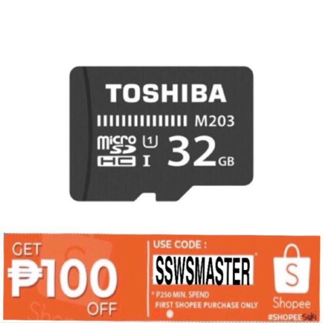 Toshiba Micro SD M203 UHS-1 100MB/s 32GB THN-M203K0320A4