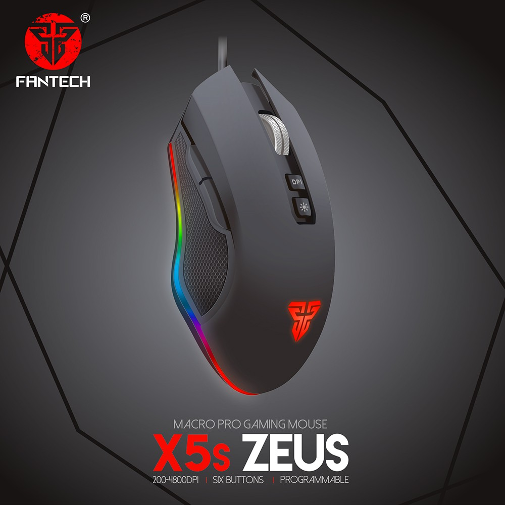 Fantech Zeus X5s High Grade USB Wired Gaming Mouse w/ Light