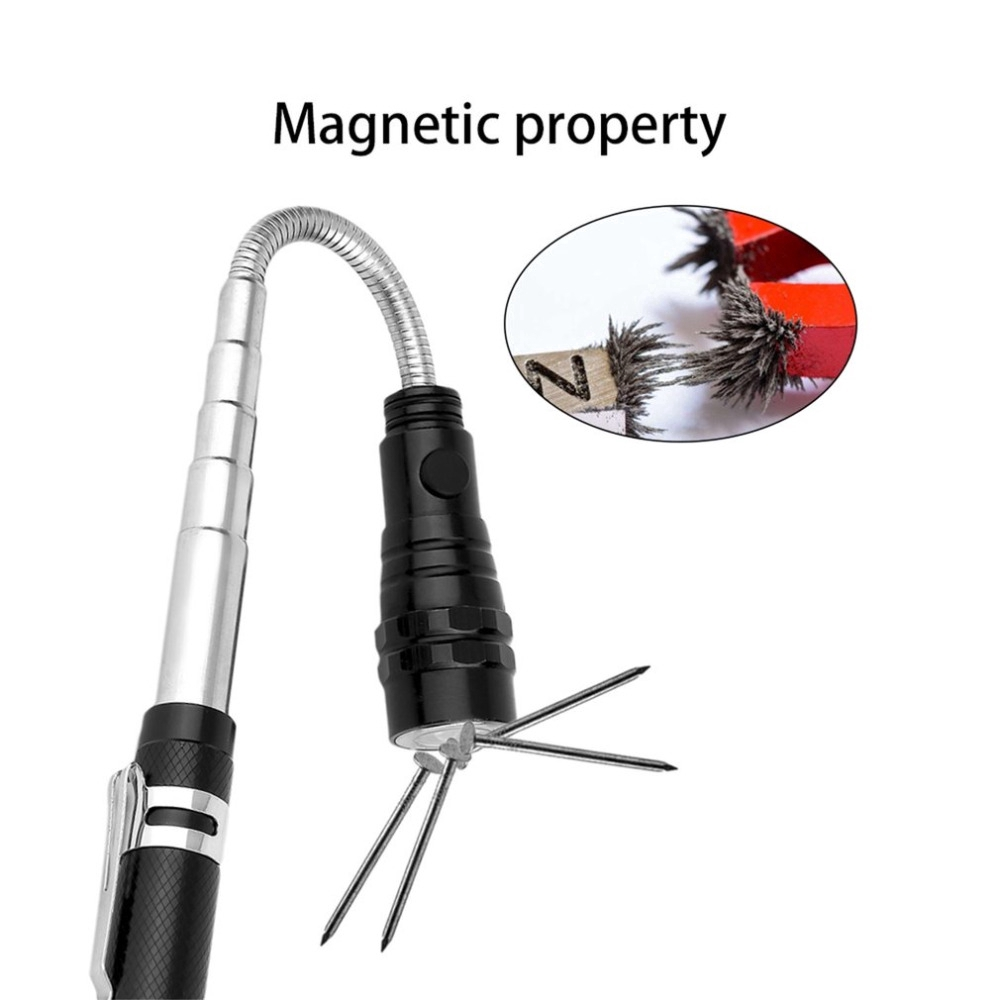 360° Flexible 3 LED Flashlight Telescopic Torch Magnetic Pick Up Tool Light Lamp