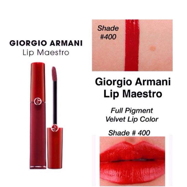 shop check out hot sales Giorgio Armani Lip Maestro #400