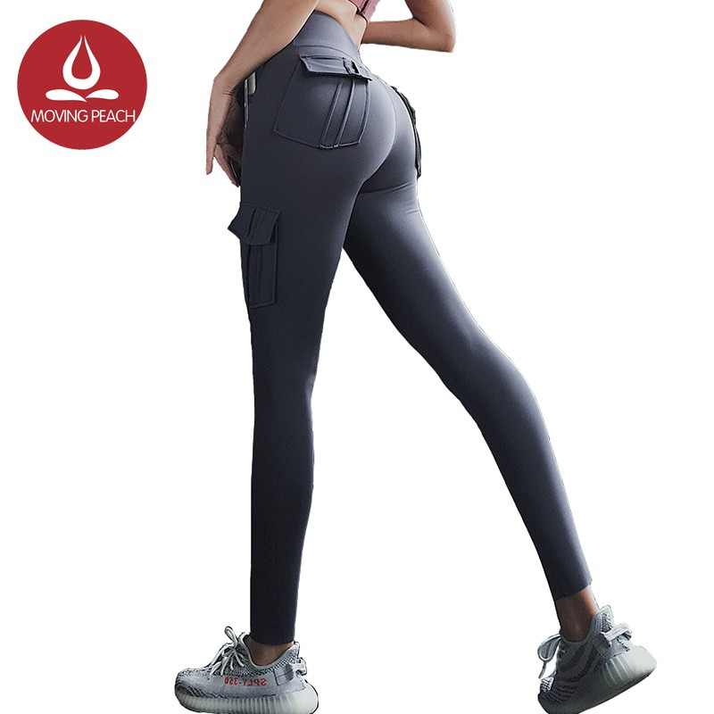Moving Peach Compression Leggings Hip Up Sports Pants With 4 Pockets Alq Shopee Philippines