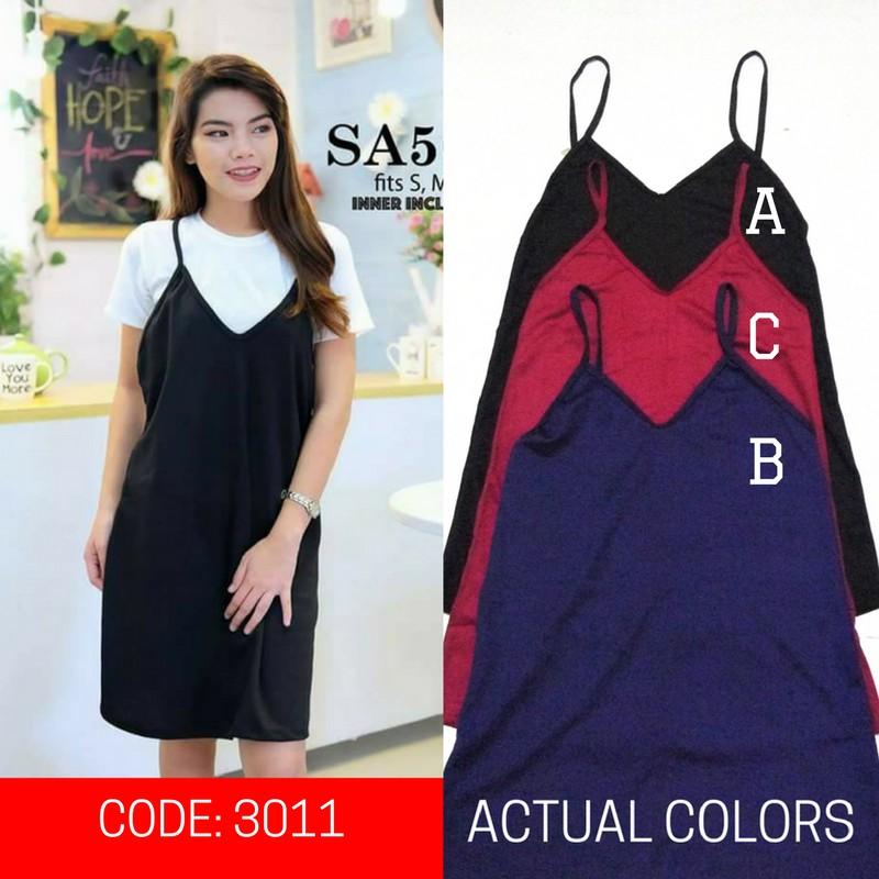 3 PCS  ASSORTED Slip Dress (C011)