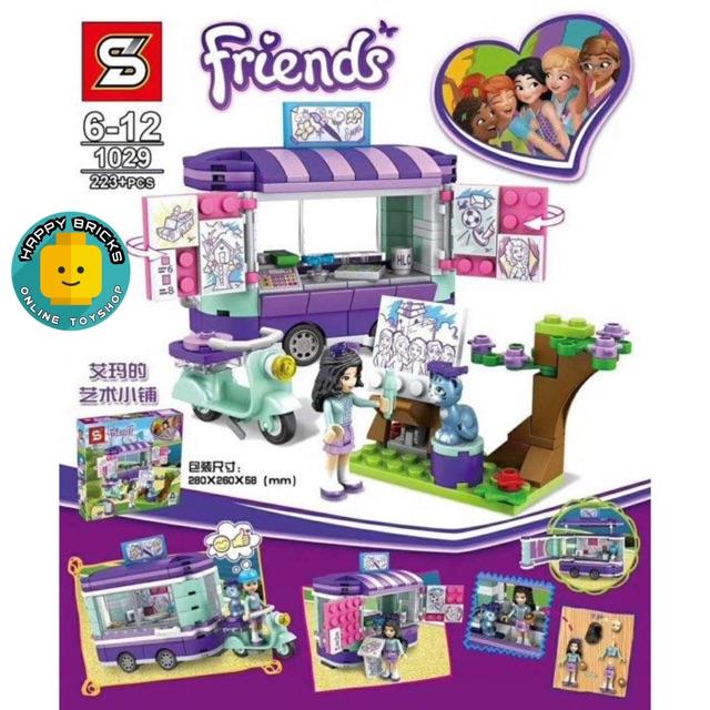 FRIENDS Emma's Artistic Stall Building Blocks Set SY1029