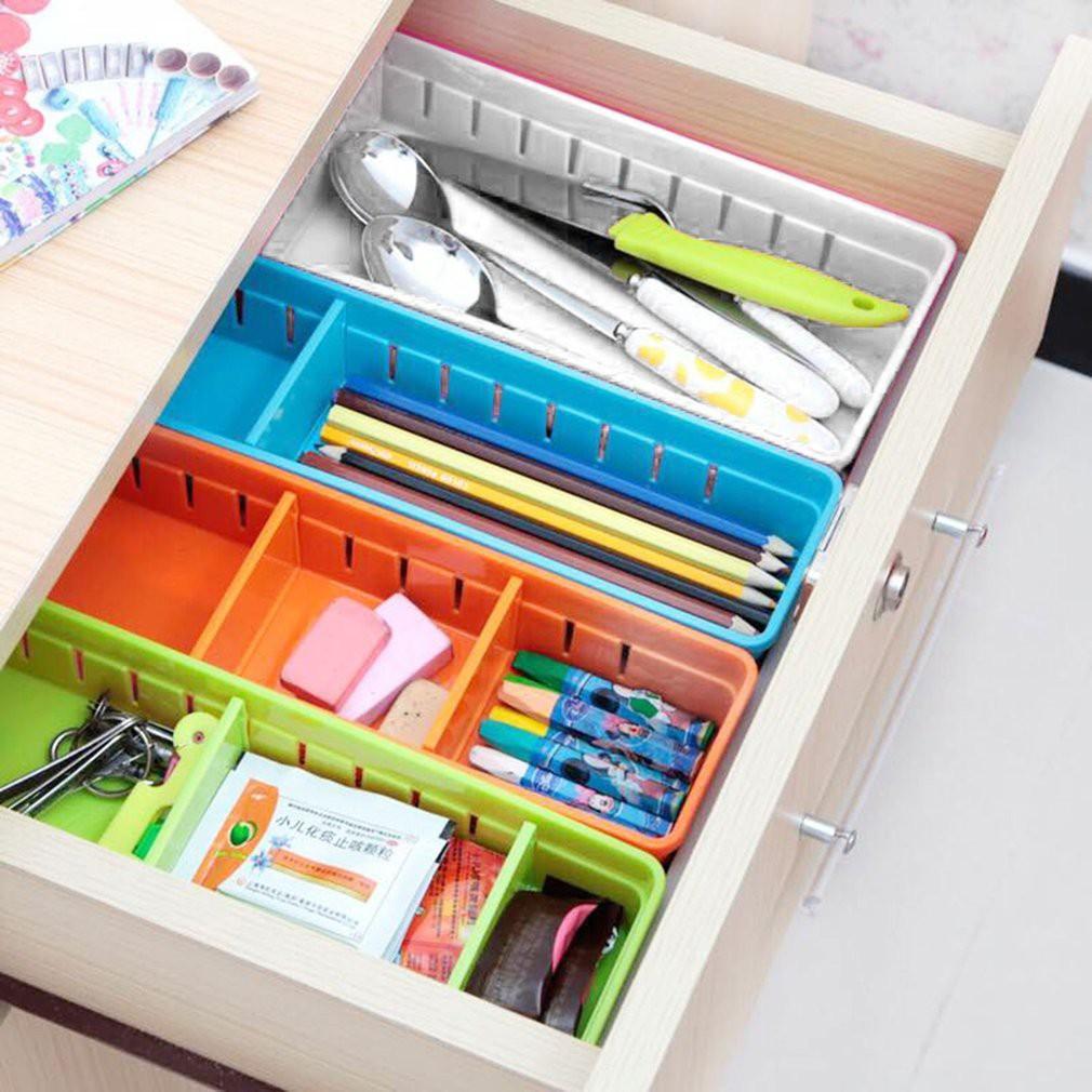 BK✿5 Compartment Socks Underwear Bra Tie Drawer Storage Box | Shopee Philippines
