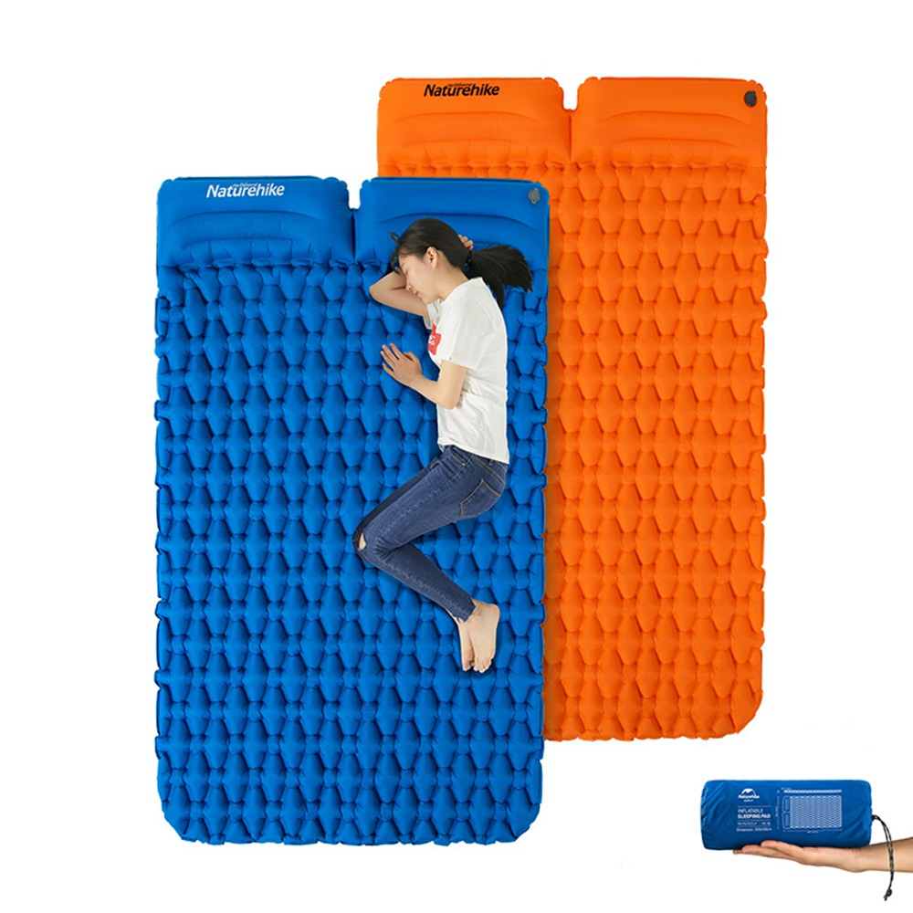 Naturehike FC-13 Double Inflatable Sleeping Pad With Pillow | Shopee  Philippines