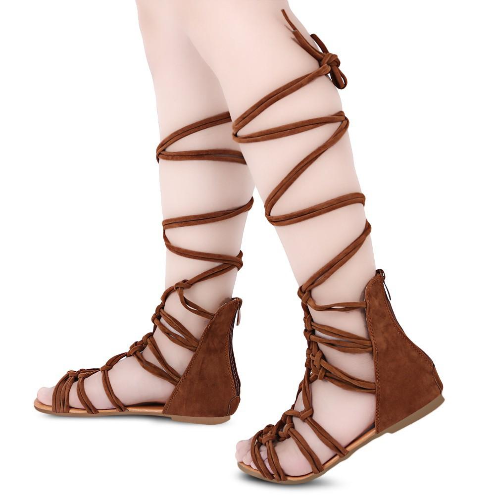 Zipper Sexy Ladies Straps Sandals Cross Gladiator nPX0wOk8