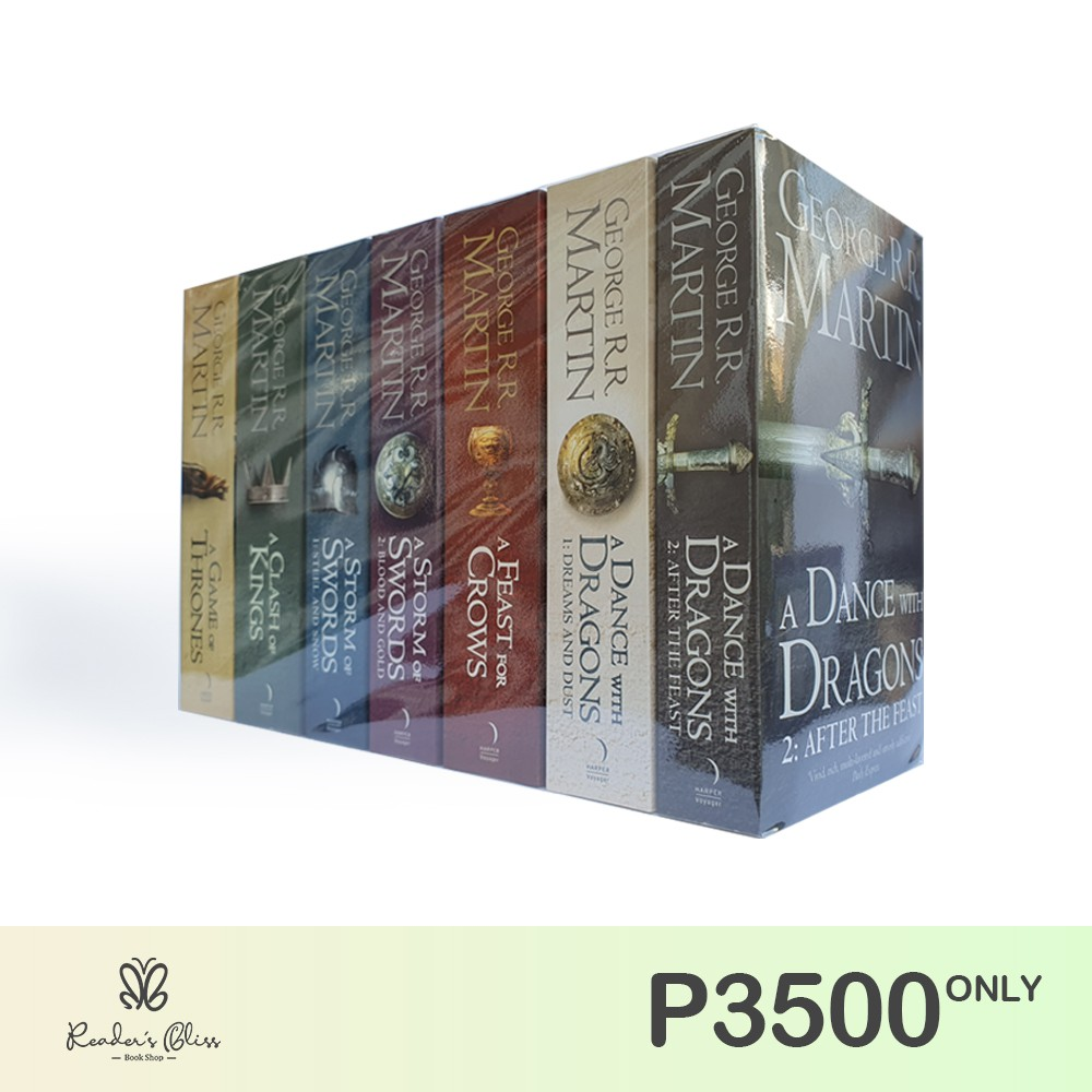 A Game Of Thrones Book Set By George R R Martin Shopee Philippines