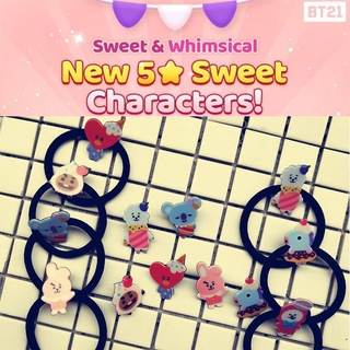 1 Piece Kpop Bts Bt21 Lovely Cartoon Animal Elastic Hair Bands For Girls Lady Ponytail Rubber Band Hair Ties Rope Accessories Apparel Accessories Girl's Hair Accessories