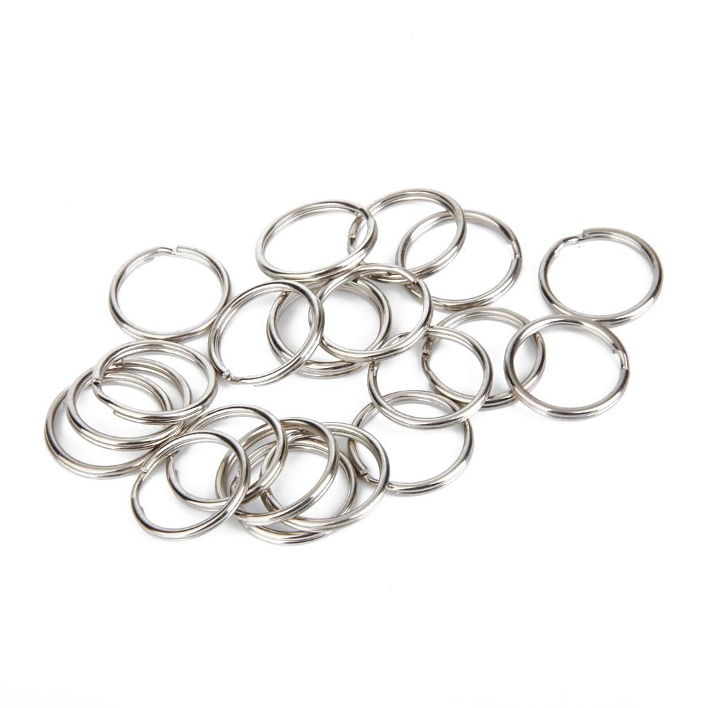 10 Steel Keyrings Split Key Rings 13mm Nickel Hoop Ring Nickel Plated Steel Loop