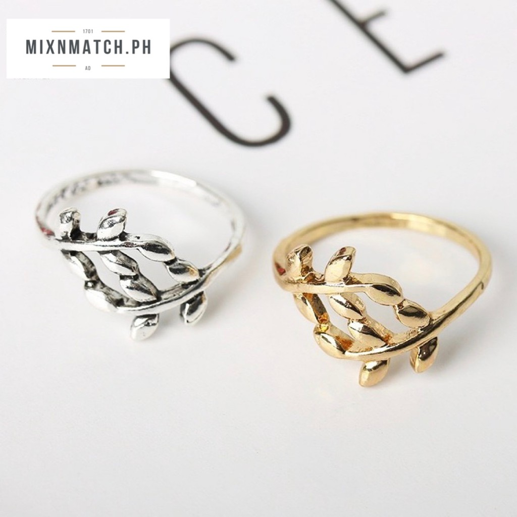 Mixnmatch Ph Fashionable Olive Tree Branch Ring Shopee Philippines