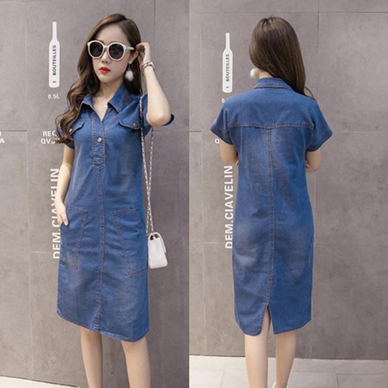 Summer Denim Plus Size Women Jeans Elegant Cowboy Dresses  c2d0432a4