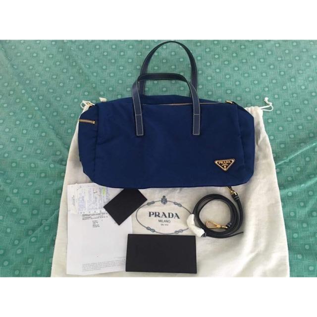 edddca200 Prada Original Nylon Bluette Bag | Shopee Philippines