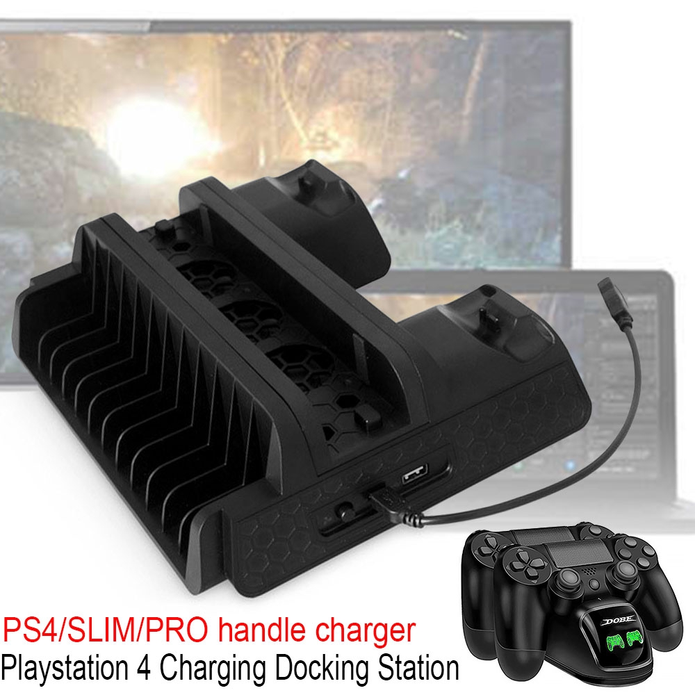 PS 4 Quality Fast Dual USB Port Charger for Playstation4 Charging Dock for PS4 Wireless Controller Dualshock 4 Controller Charger Stand PS4 Slim Pro Controllers