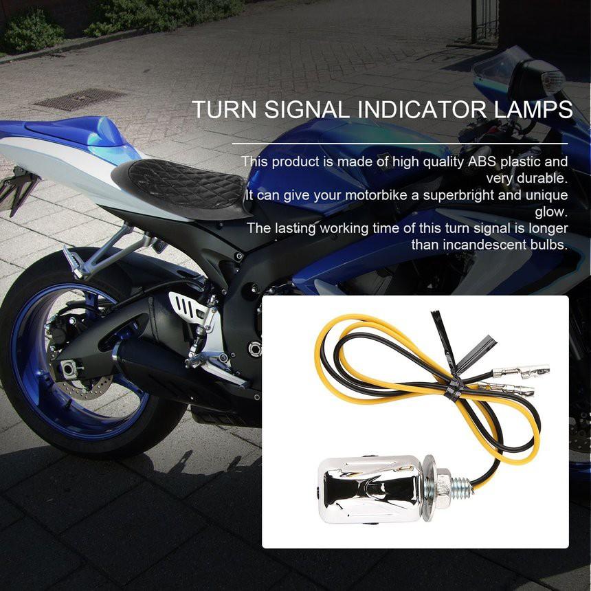 4Pcs Universal Bullet Bulb Motorcycle Indicators Motorbike Turn Signal Lights