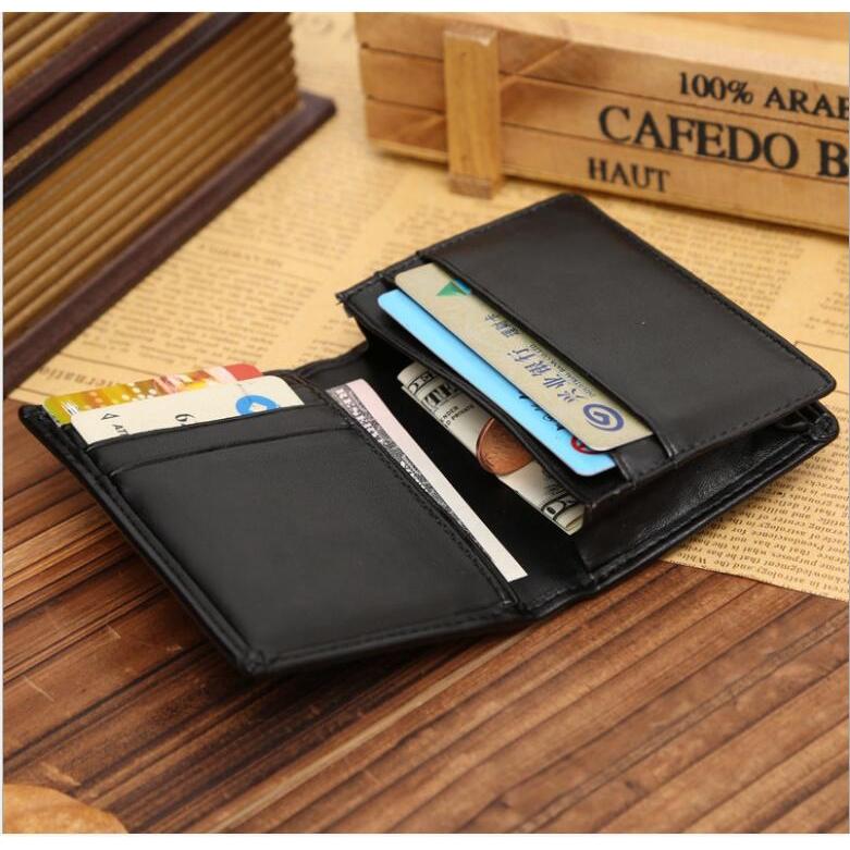 Men/'s Genuine Leather Wallet ID Card  Bifold Coin holder Purse Pocket Money Clip