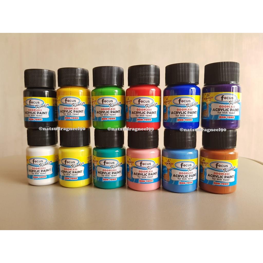 Focus Kinder Odorless Acrylic Paint - 15ml