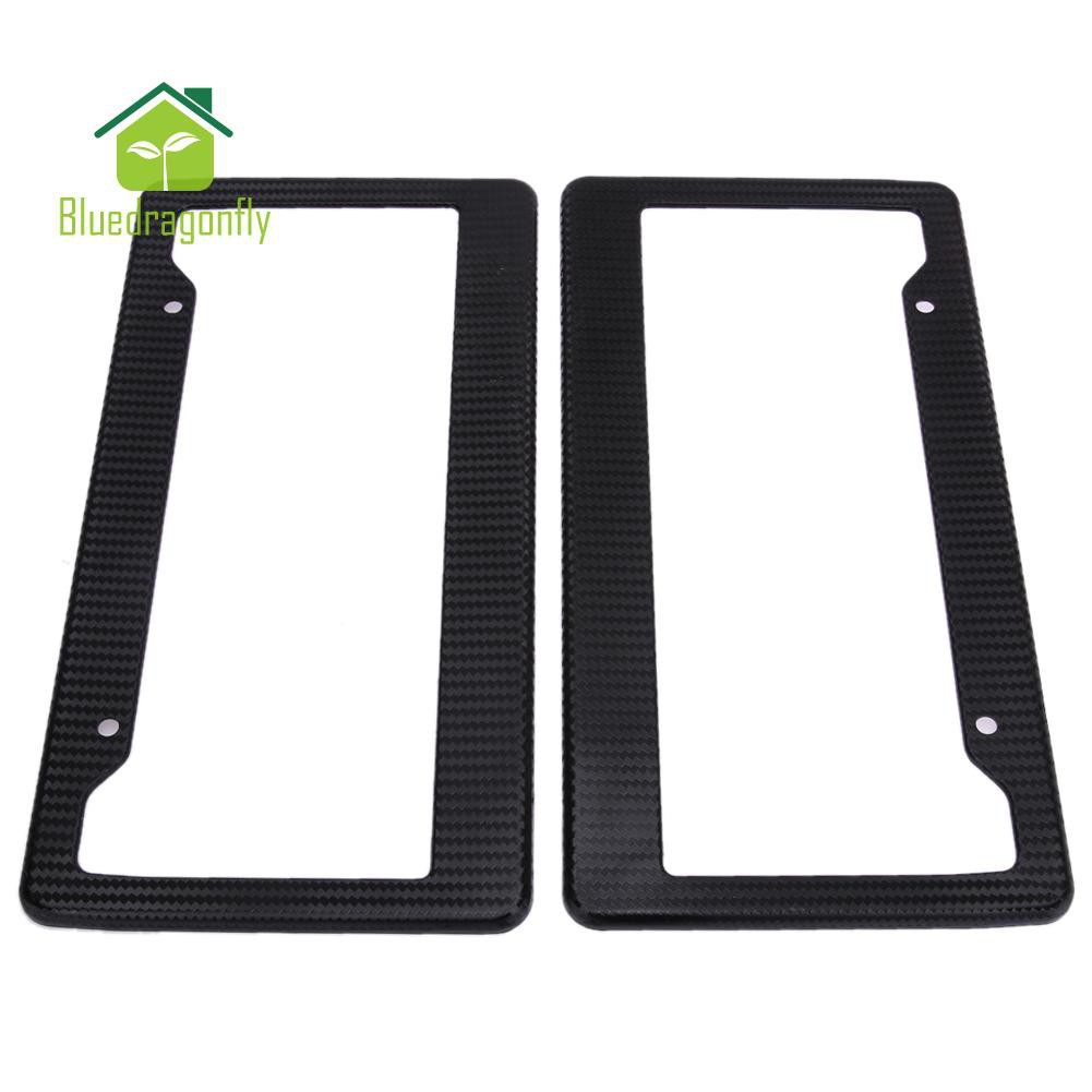Auto Sport 2pcs License Plate Frames with Screw Caps Set Stainless Steel Frame Applicable to US Standard Cars License Plate Fit Lincoln Accessory