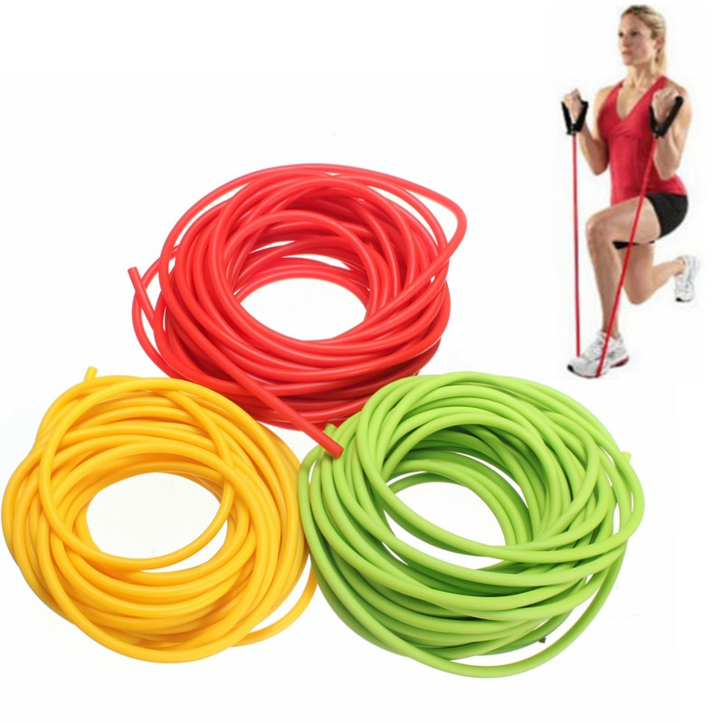 Resistance Bands 32 Feet 5mm Natural Latex Rubber Tube Tubing Replacement Band Surgical 10m Special Summer Sale