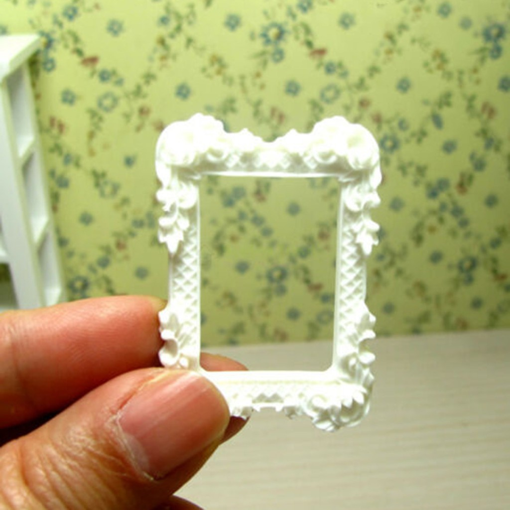 2Pcs 1:12 dollhouse miniature art picture photo painting frame home decor BE